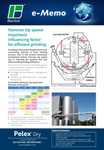 Bentoli's e-Memo from December 2020 that covers hammer tip speed which is an important factor for efficient grinding